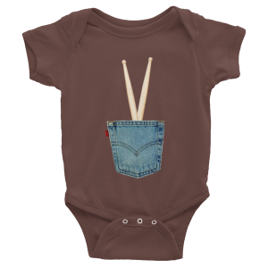 IN THE POCKET – Infant short sleeve one-piece