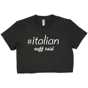 #ITALIAN – Short sleeve crop top