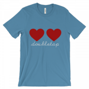 DOUBLE TAP – Unisex short sleeve t-shirt
